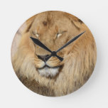 Adorable Lion Round Clock