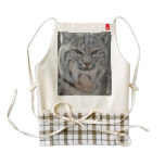 Creeping Bobcat Zazzle HEART Apron