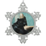 Panther Snowflake Pewter Christmas Ornament