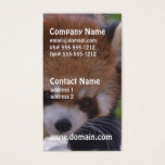 Prowling Red Panda Business Card