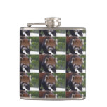 Prowling Red Panda Flask