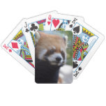 Sweet Red Panda Bear Bicycle Playing Cards